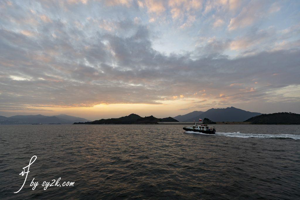赤門海峽日落